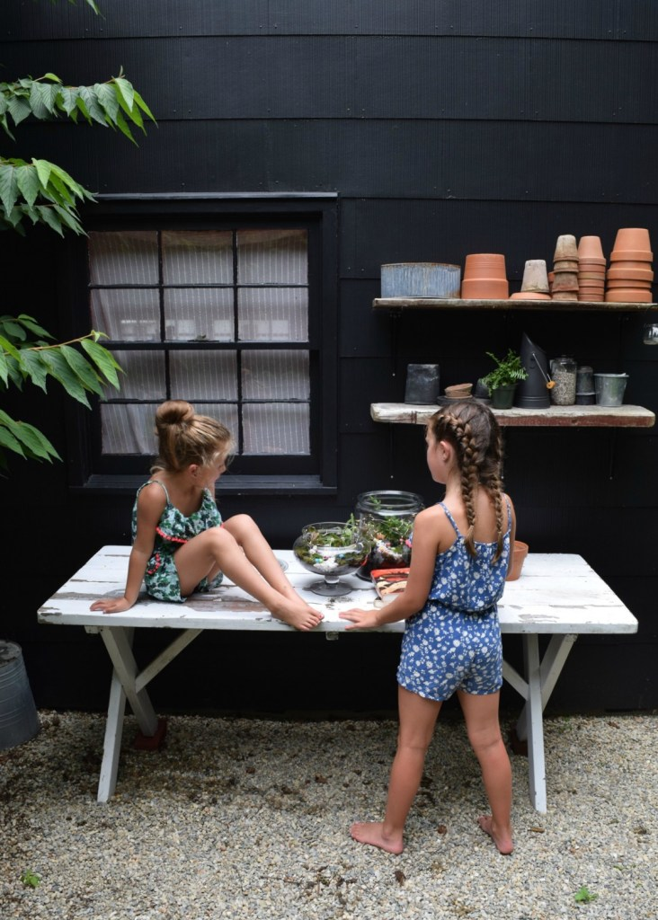 Supplies and how to make a DIY glass terrarium