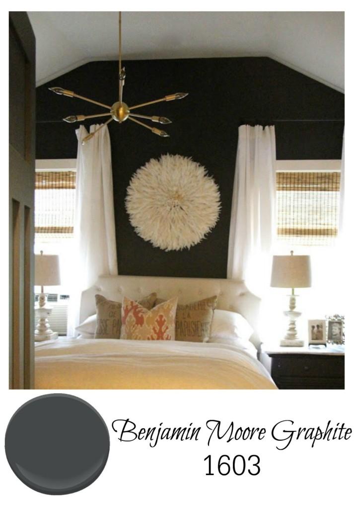 Best Gray paint for bedroom walls from Benjamin Moore Graphite