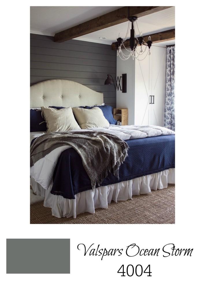 Best Gray paint for bedroom walls from Valspar Ocean Storm