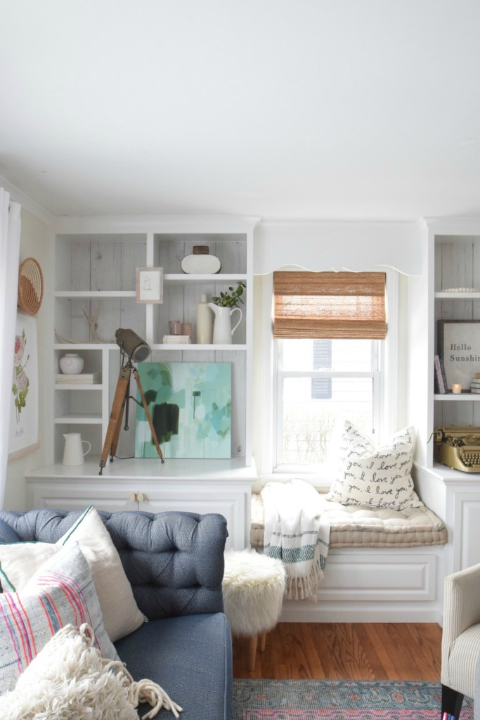 Bookcase styling and a Blunt Facebook Comment - Nesting With Grace