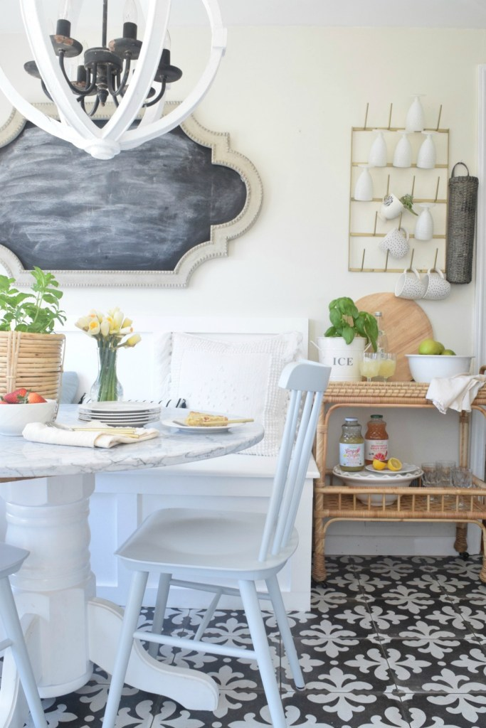 the remodel tables benches size banquette this dining with of mix bench tufted curved table decor round settee love medium kitchen chairs room for