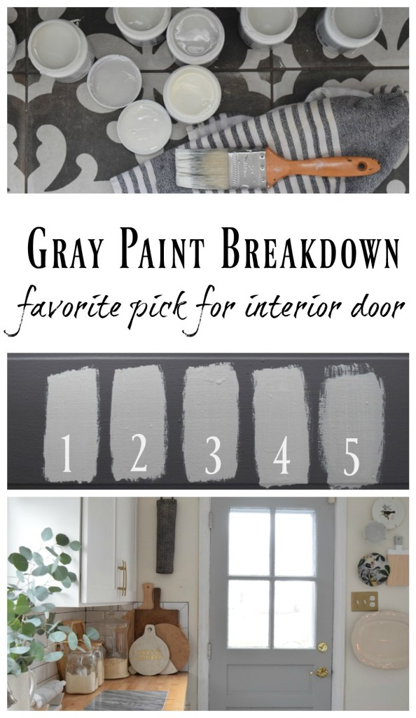 Gray Paints- For Interior Door- 7 Gray Paints Tested