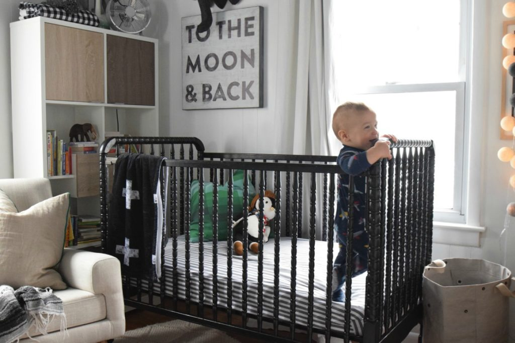 Nursery- Baby Boy Nursery- How to paint a crib and seal it.