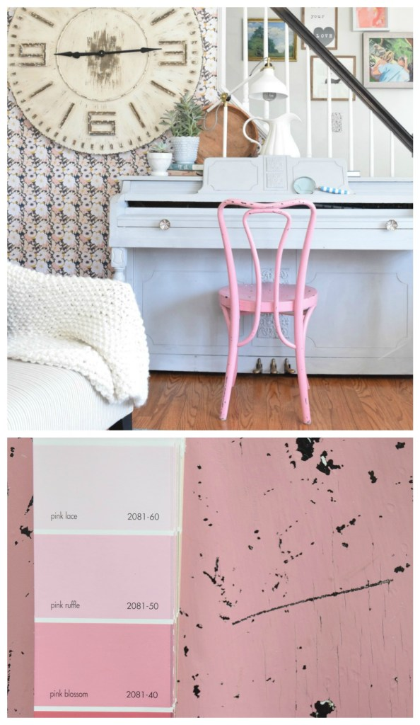 Pink Paint- Benjamin Moore Pink Ruffle 2081-50 Perfect Pink Painted Chair