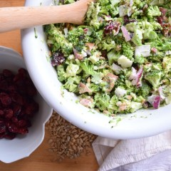 Paleo Broccoli Salad- My go-to Party Salad