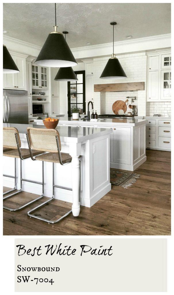Sherwin Williams- Snowbound- All over White Paint- Gorgeous White Kitchen