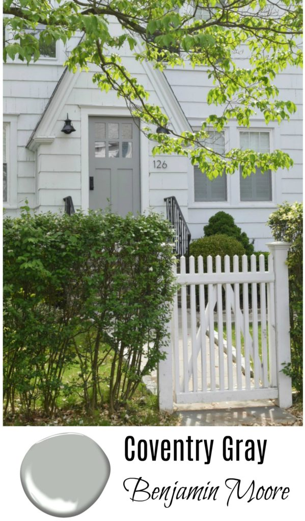 Coventry Gray- Benjamin Moore- Front Door Gray Paint Ideas