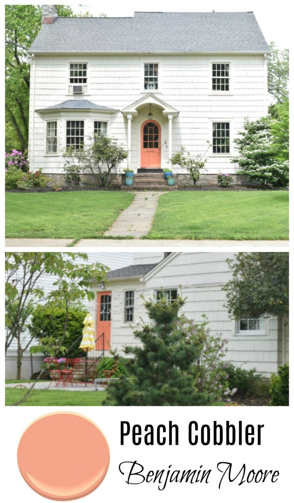 Peach Cobbler Benjamin Moore Paint- Front Door