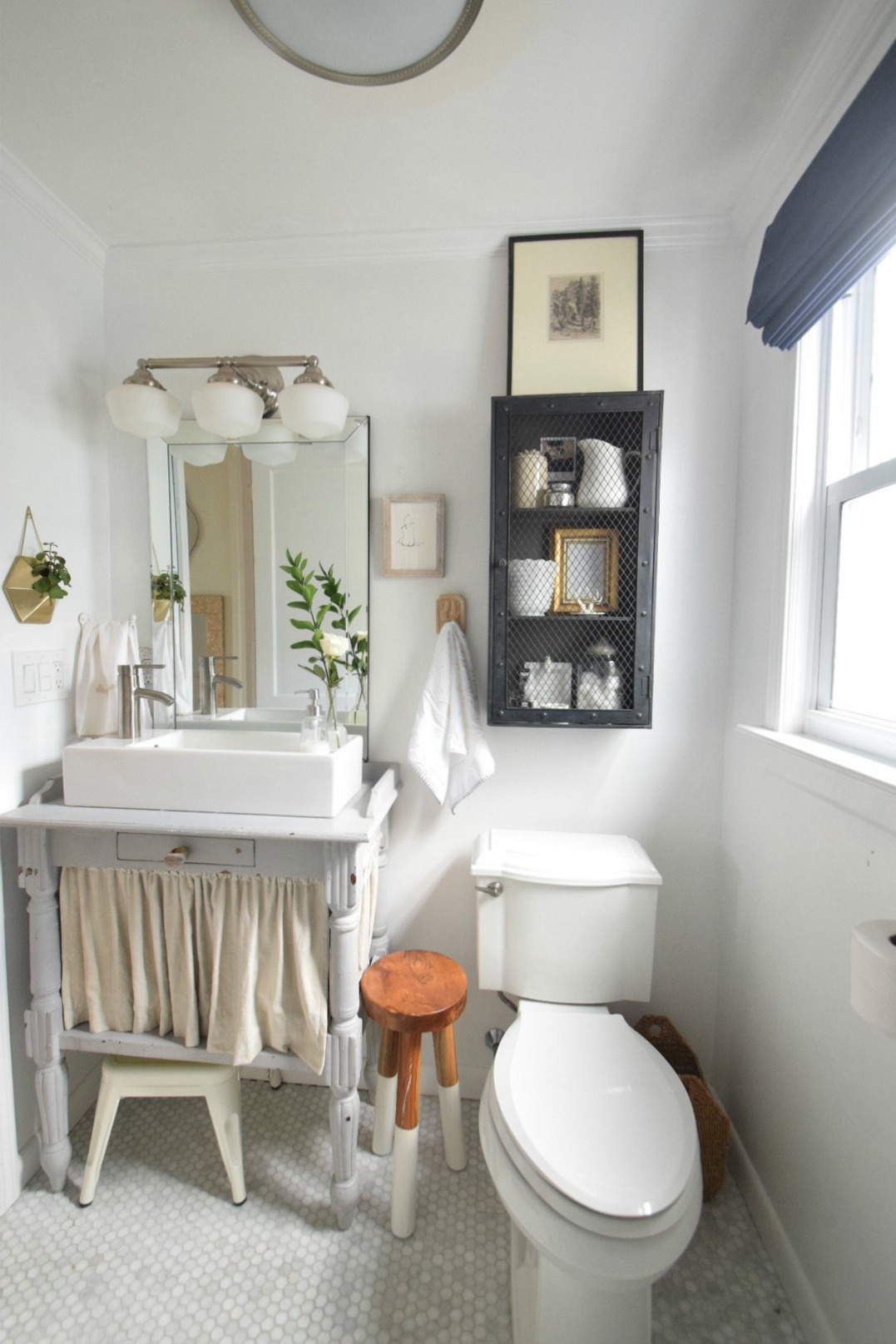 Small Bathroom Ideas and Solutions in our Tiny Cape - Nesting With Grace