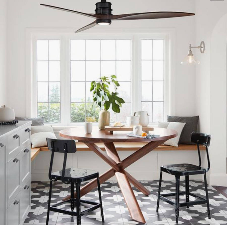 Friday Favorites- Modern Ceiling Fan in Kitchen