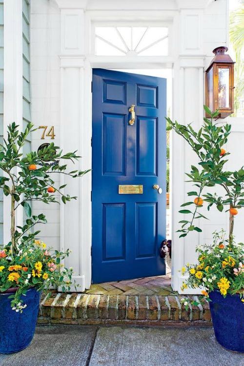 Front Door- Non Wreath Idea- Simple Door Knocker