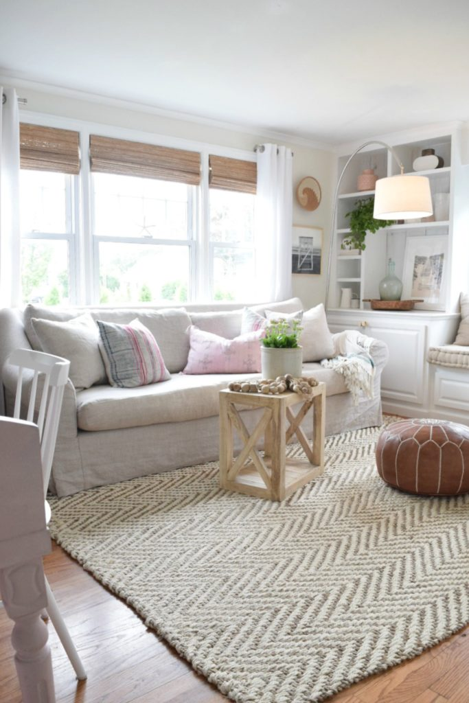 Jute Rug Review in our Living Room- Would I buy it again?