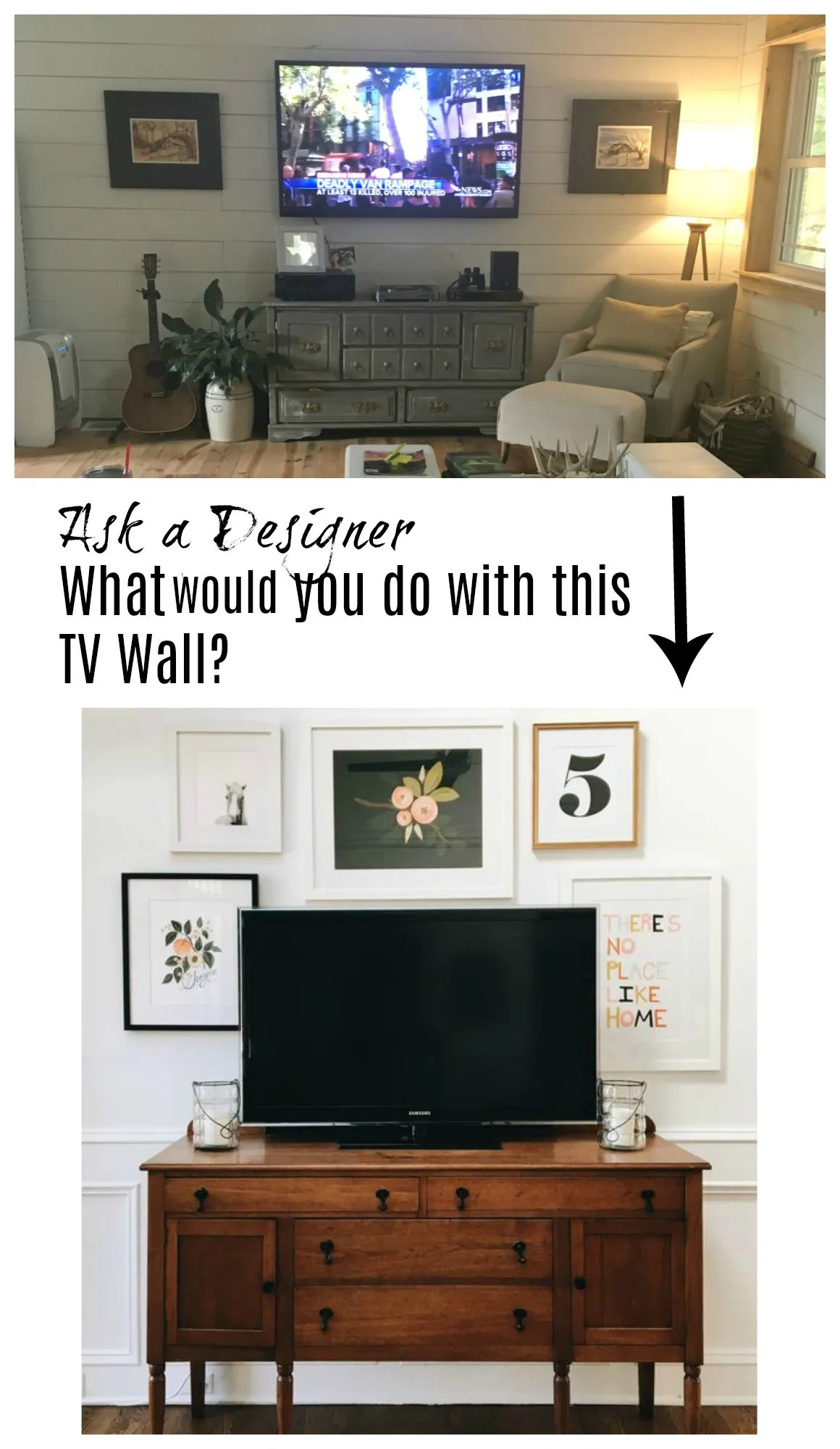 Ask a Designer Series- Mistakes made to TV Walls - Nesting With Grace