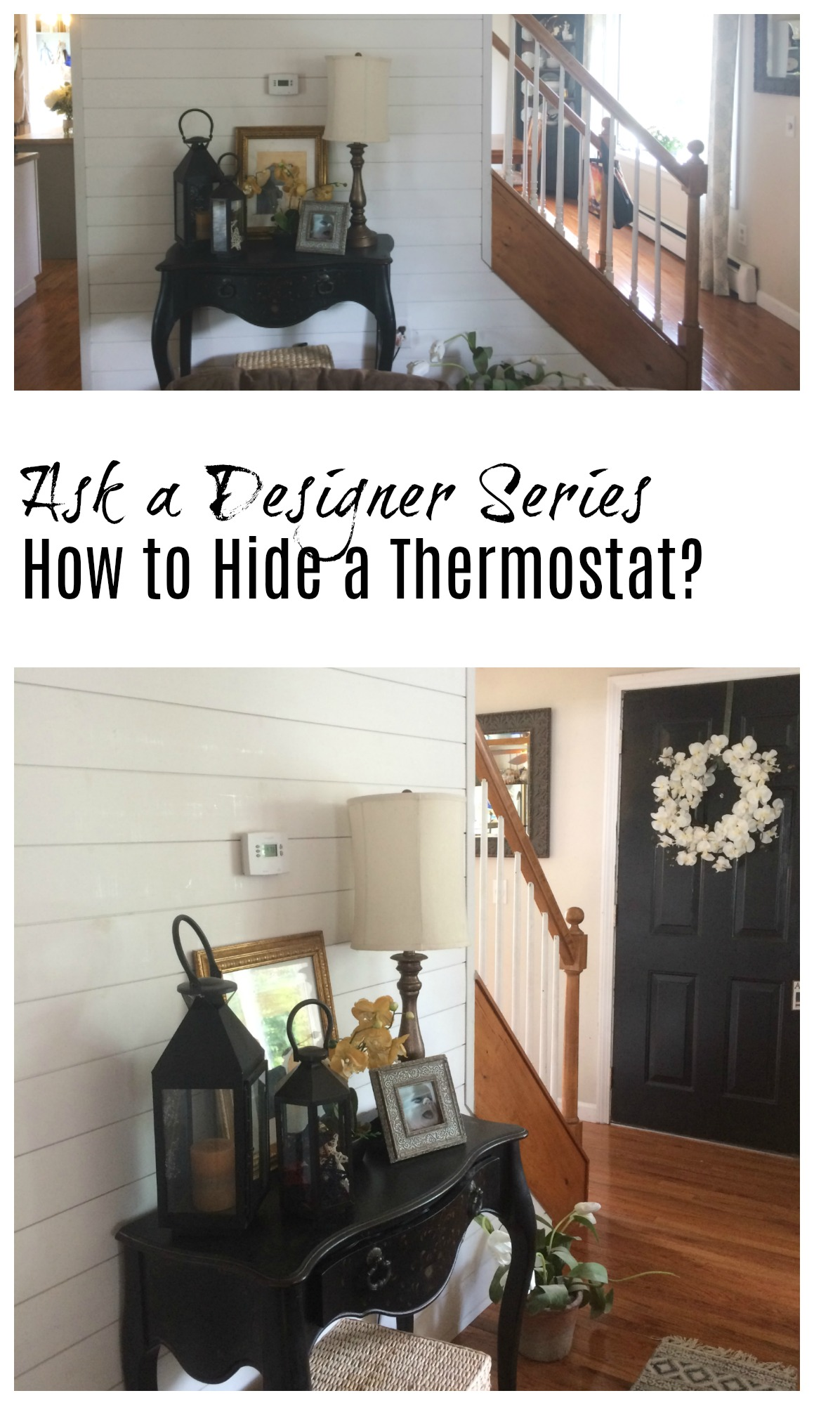 Ask a Designer Series- How to Hide a Thermostat?