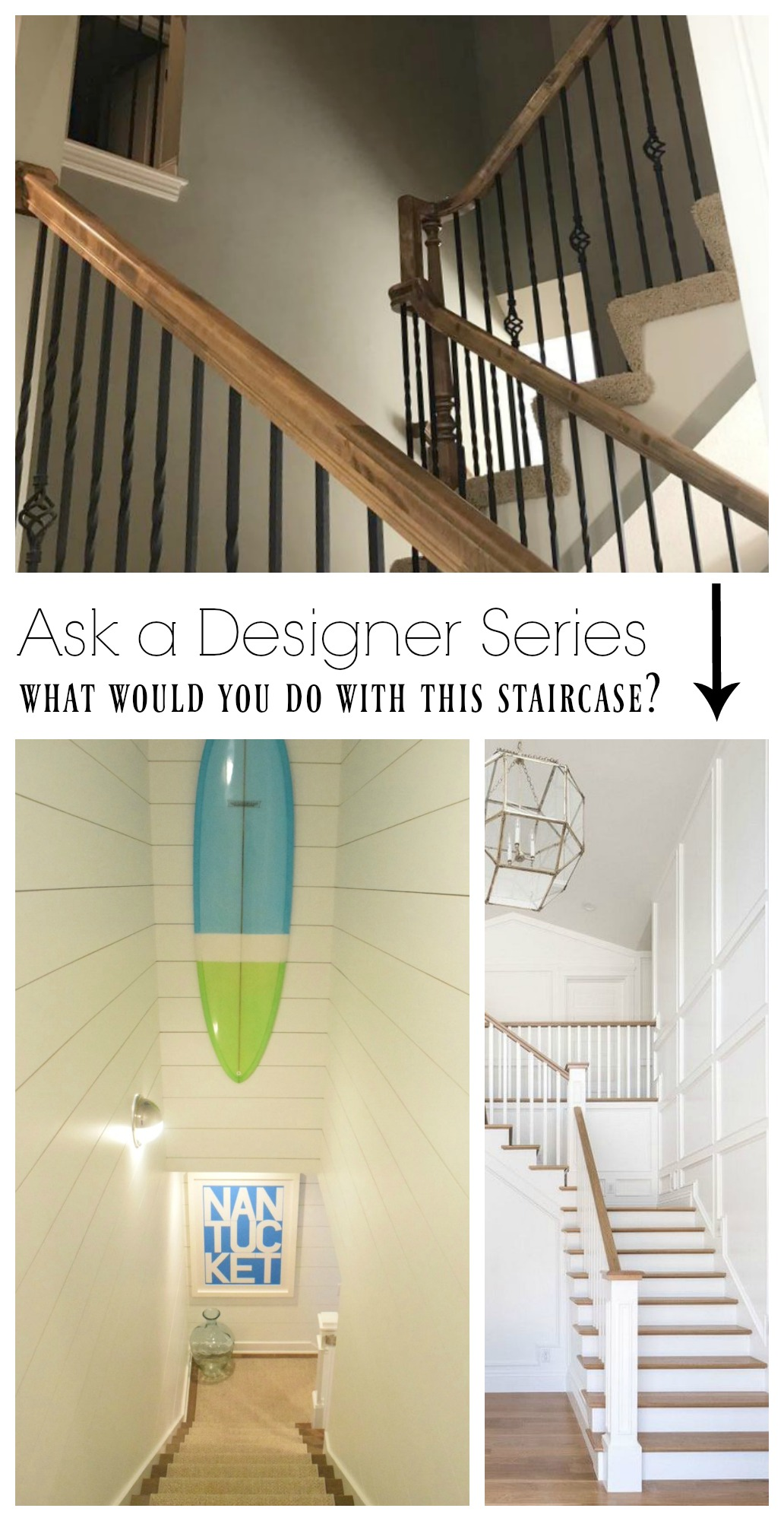 Ask a Designer Series- What would you do with this staircase?