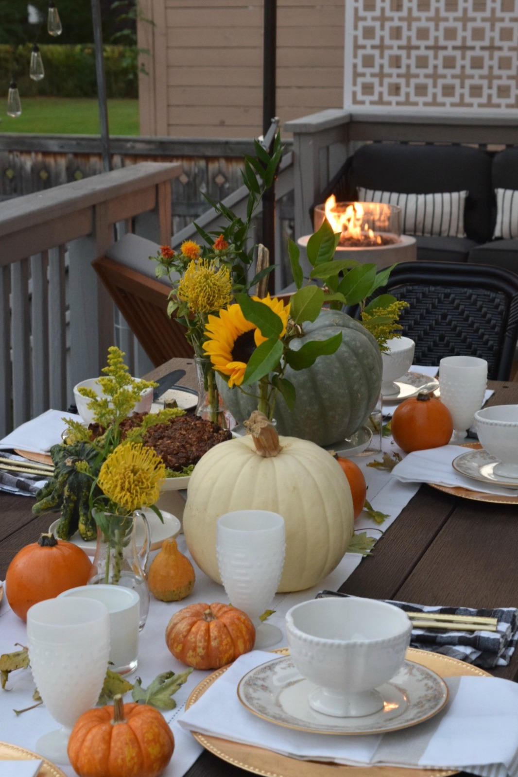 Fall Table Setting- Simple Using What You Have & Fall Table Setting- Using What You Have - Nesting With Grace