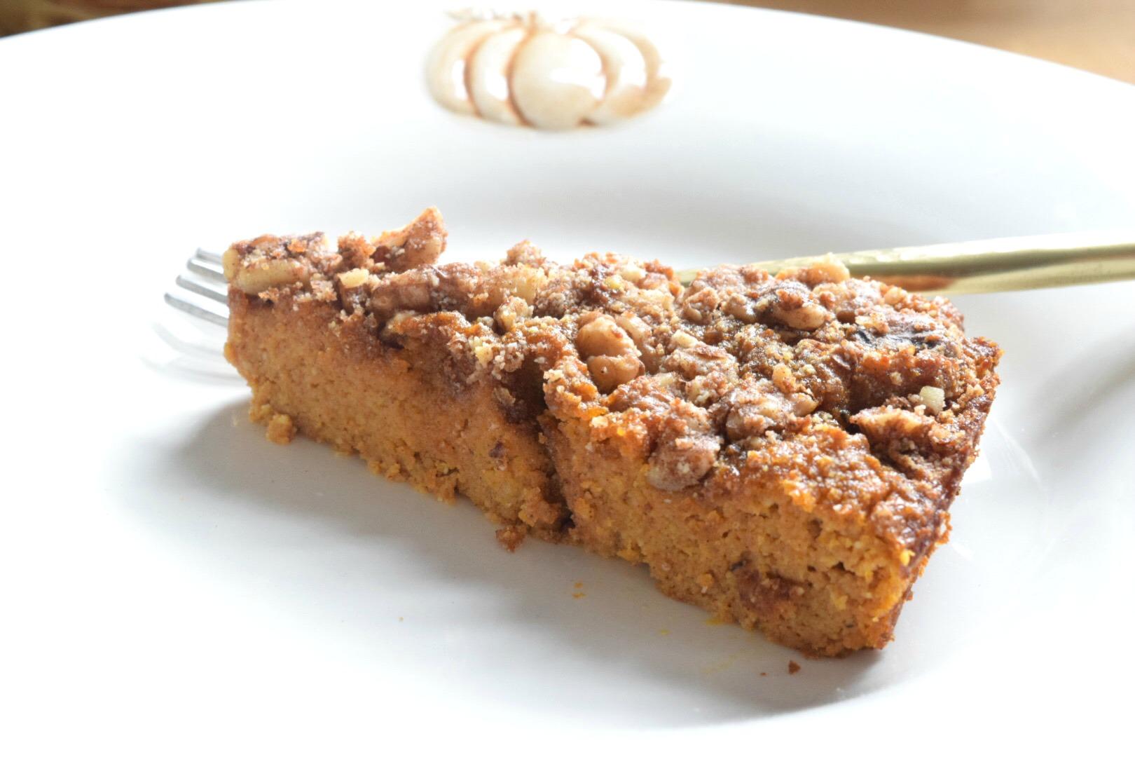 Pumpkin Crunch Cake- Gluten Free and Paleo Dessert