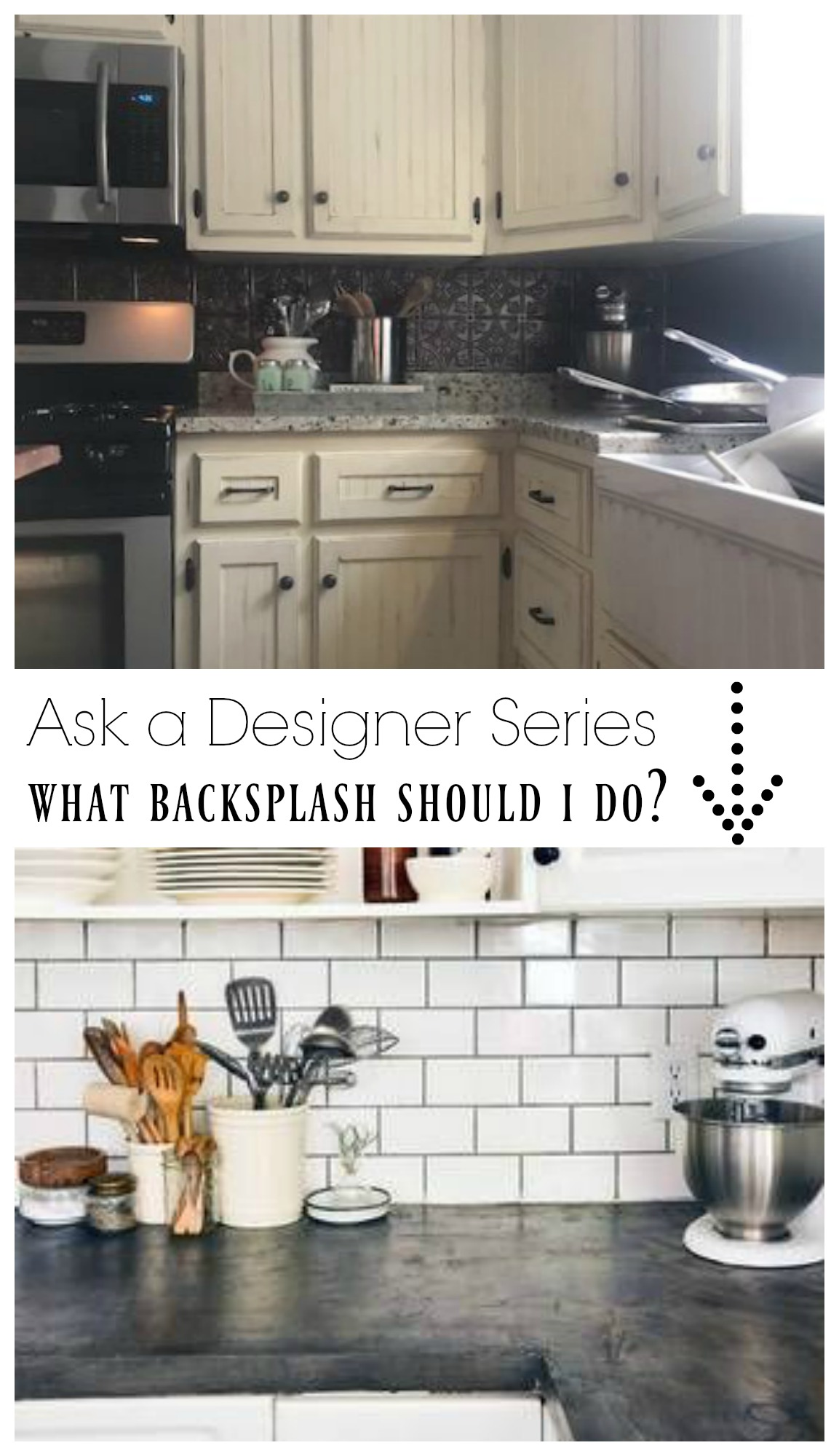 Ask a Designer Series- What backsplash should I do?