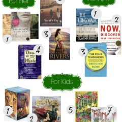 Christmas Gift Guide for Readers- Favorite Books for All