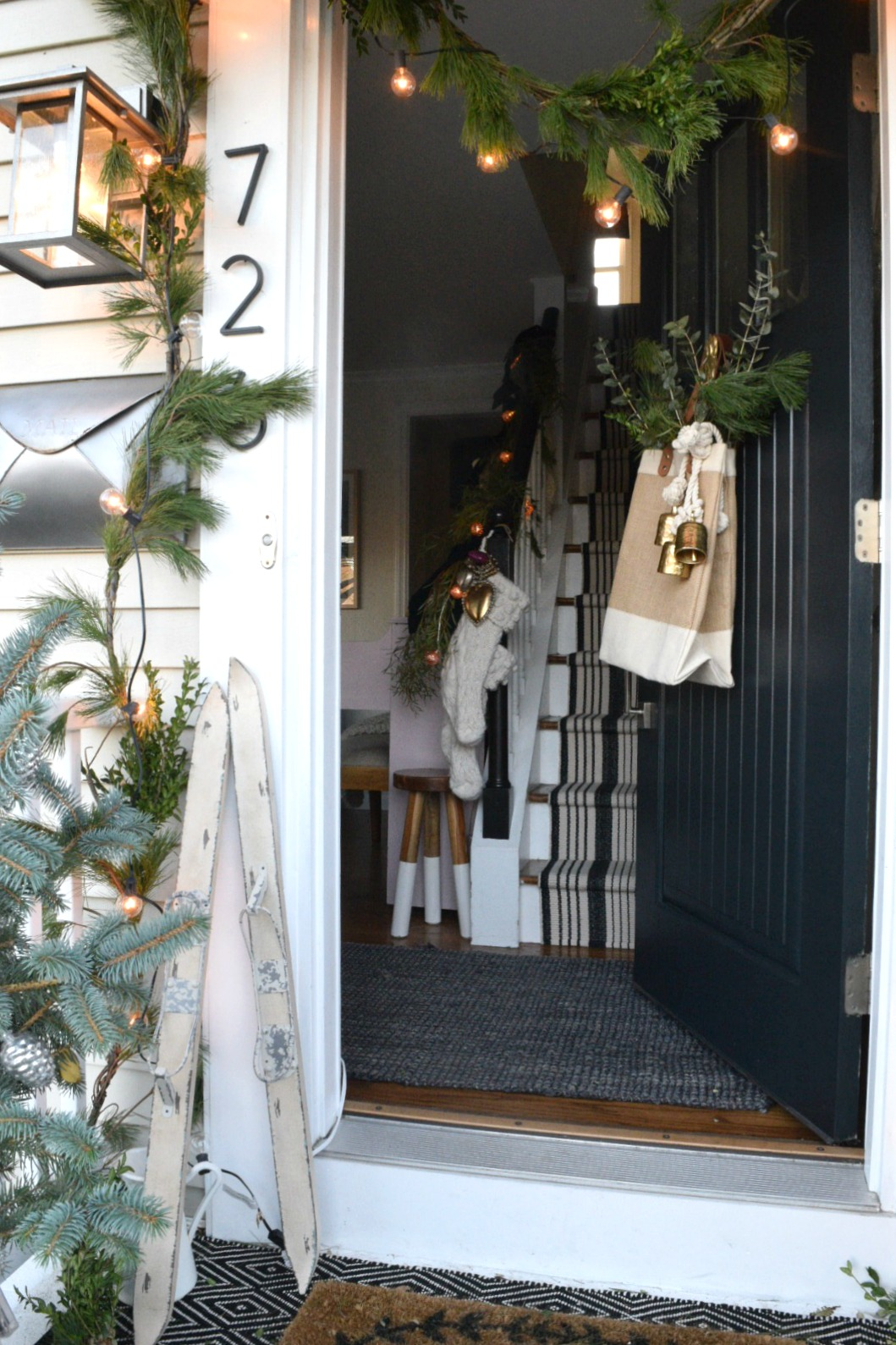 Christmas Ideas for Small Spaces- Small House Ideas- Cape Style Home
