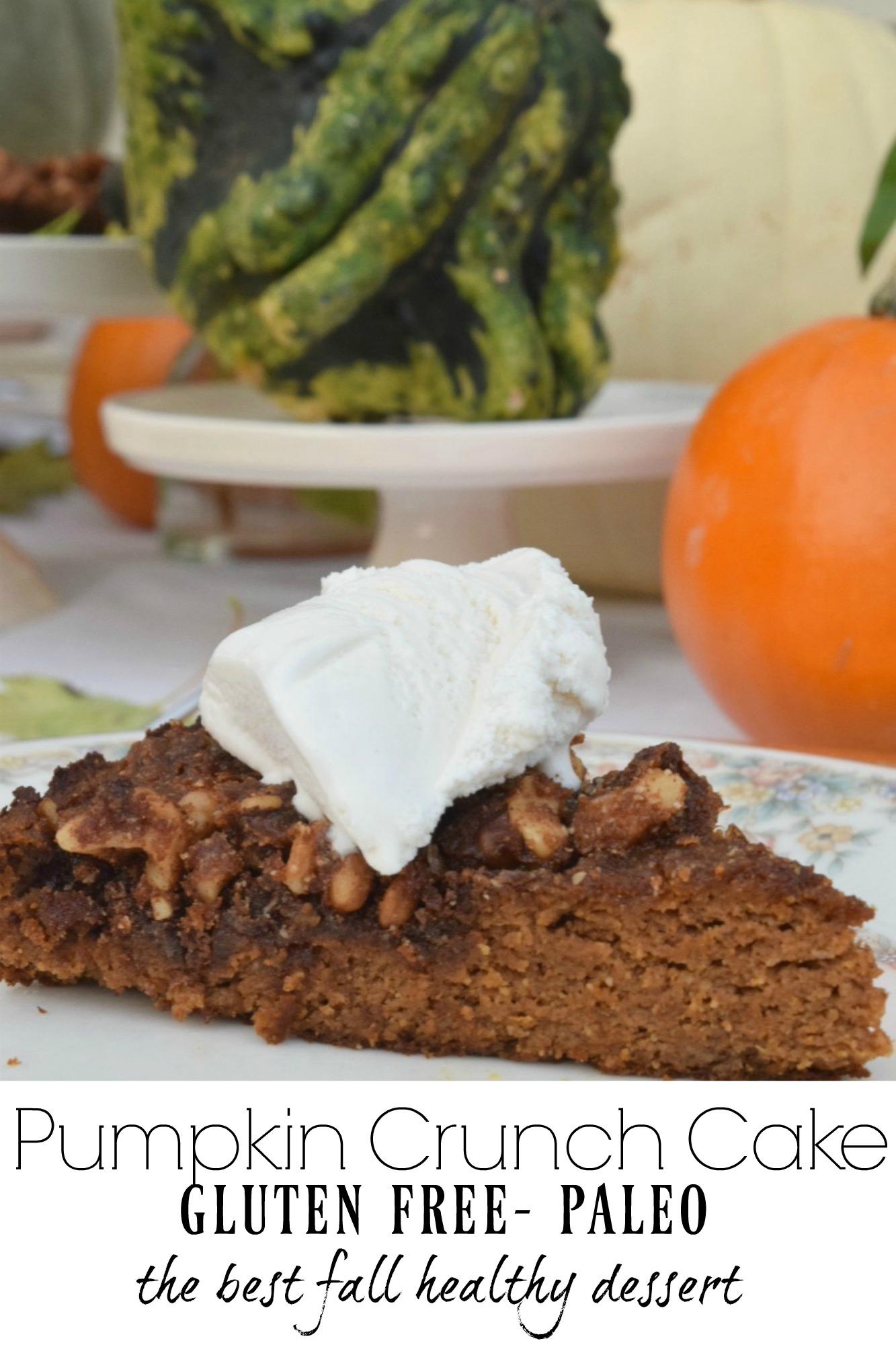 Paleo Pumpkin Crunch Cake- Paleo Desserts