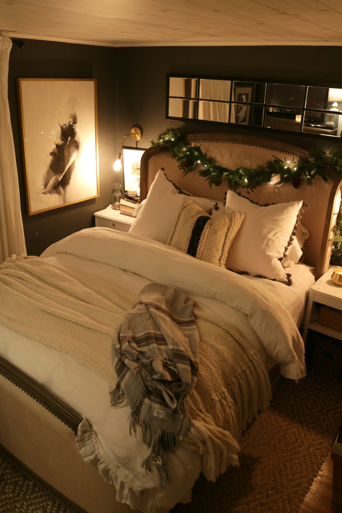 Christmas Night Home Tour- 1100 Square Feet Tiny House Tour