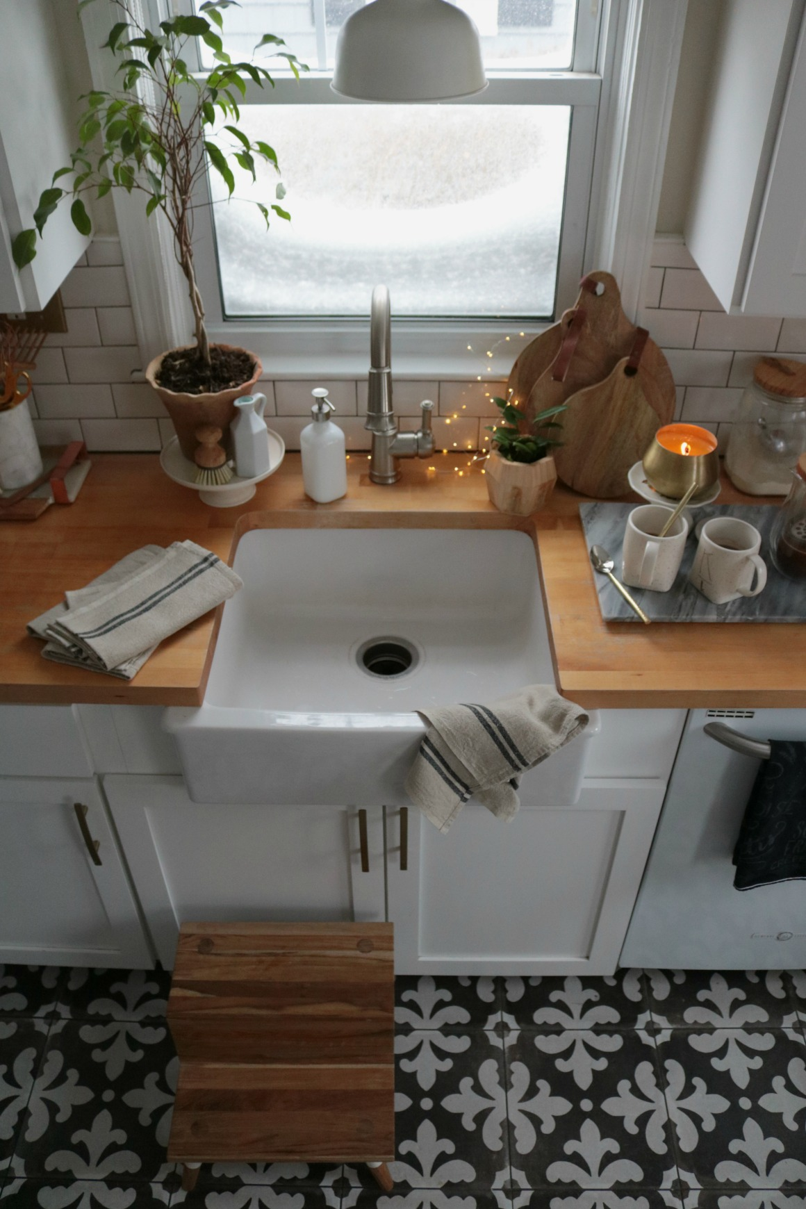 Favorite Things- Farm Sink and Butcher Block Countertops
