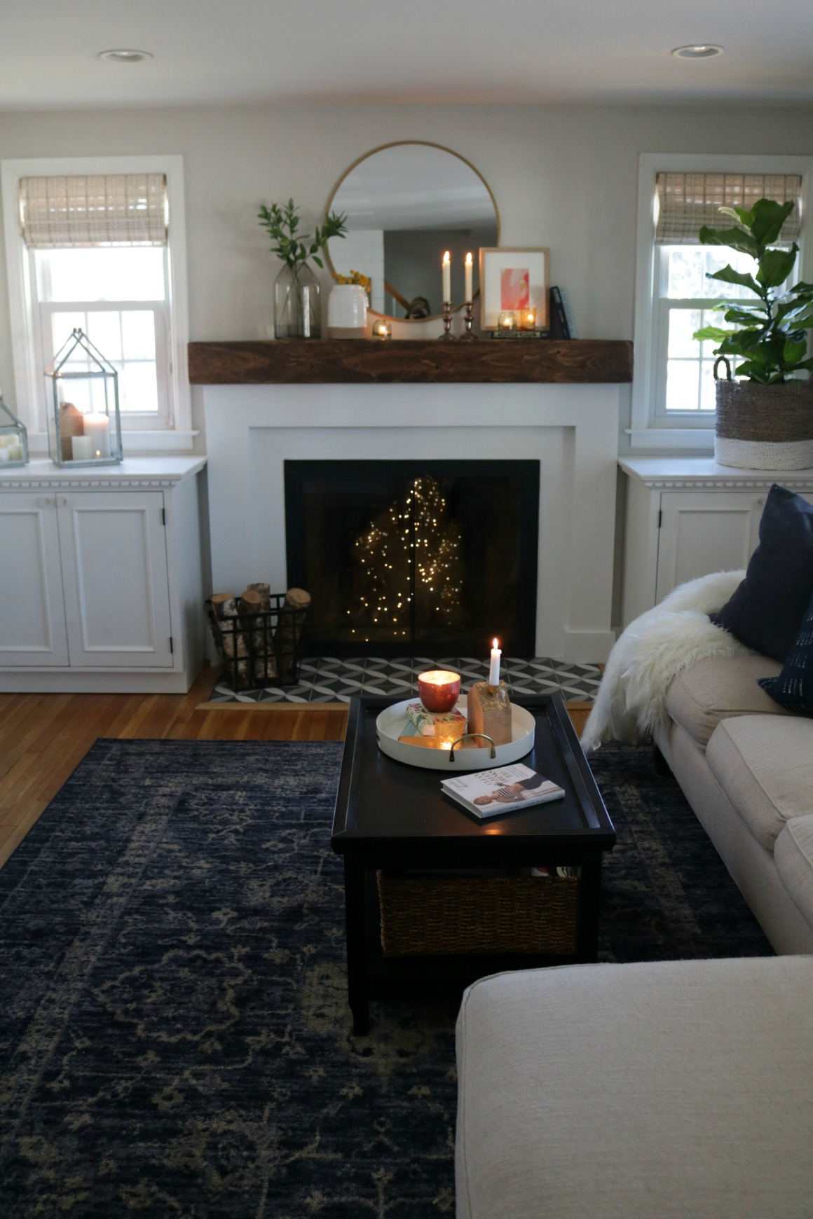 Fireplace Makeover And Styled With Decor From Target Nesting With Grace
