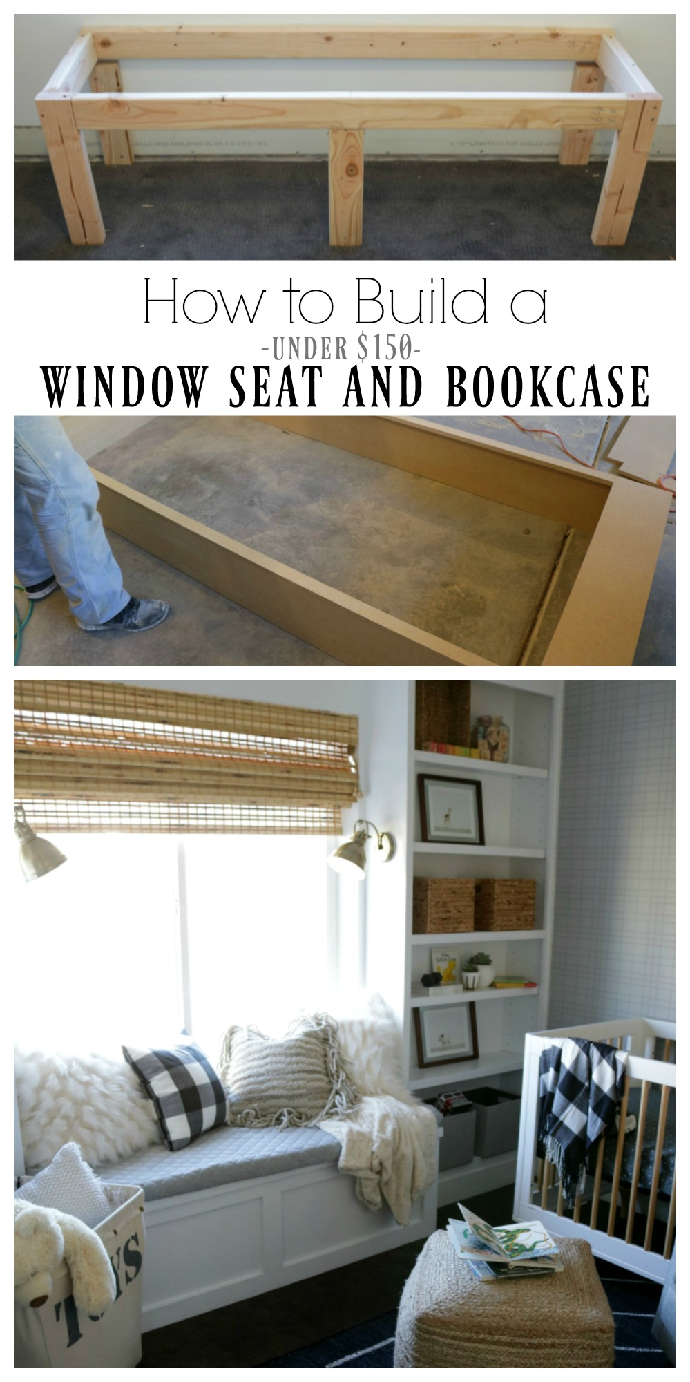 How to Build a Window Seat and Bookcase under $150