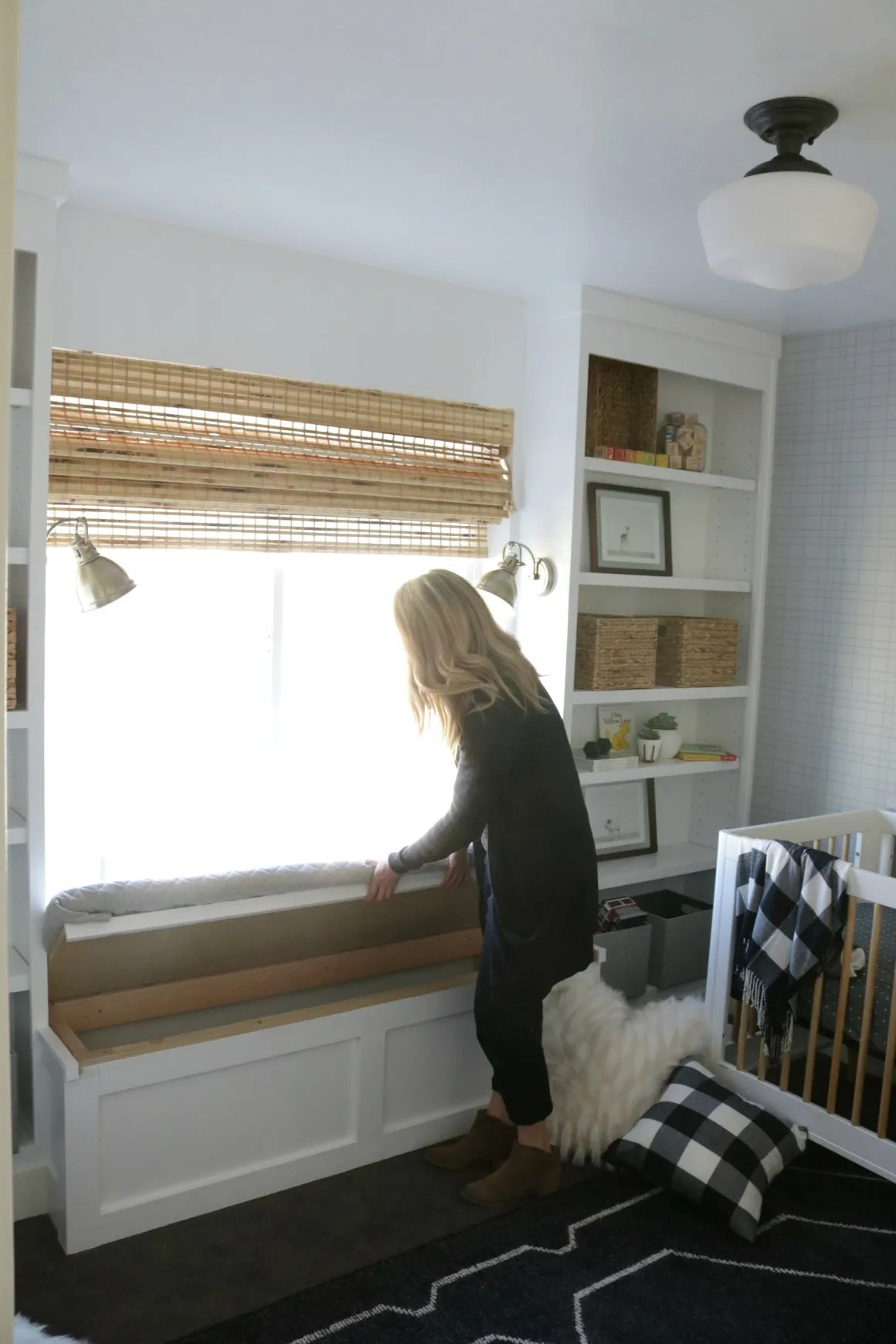 How To Build A Window Seat And Built In Bookcase Tutorial Nesting With Grace