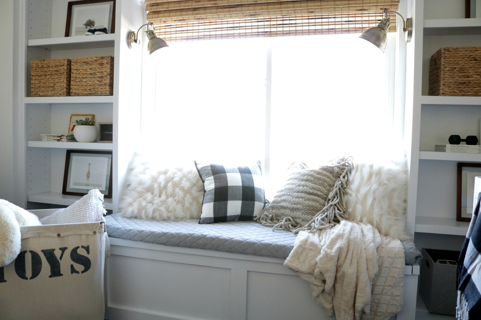 How To Build A Window Seat And Built In Bookcase Tutorial