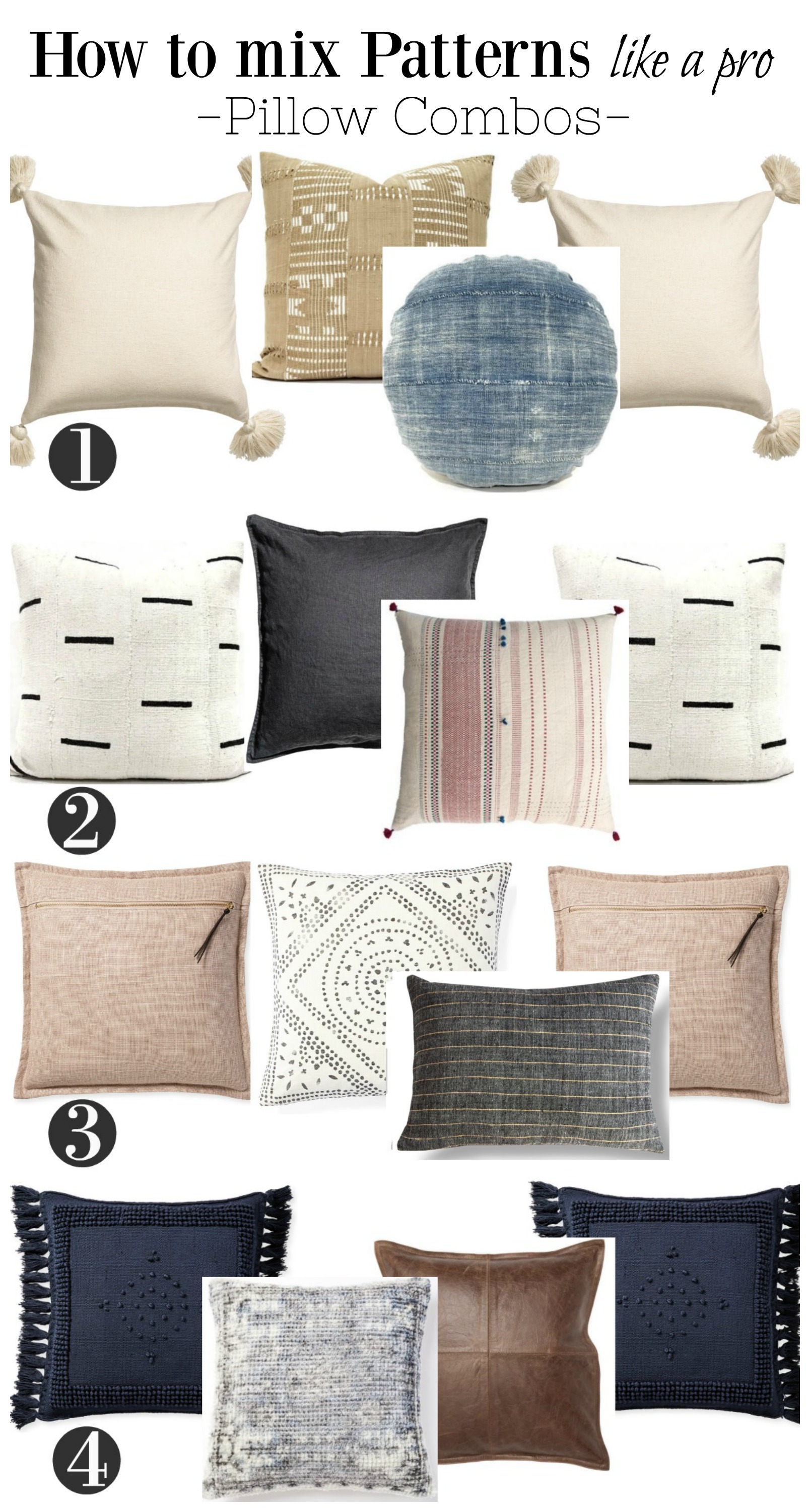 How to pick the Right Pillows! Mixing Pattern Tips