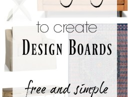 How to create a Design Board that is FREE and EASY
