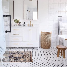 Bathroom (upstairs) Design Plan, Before and Inspiration