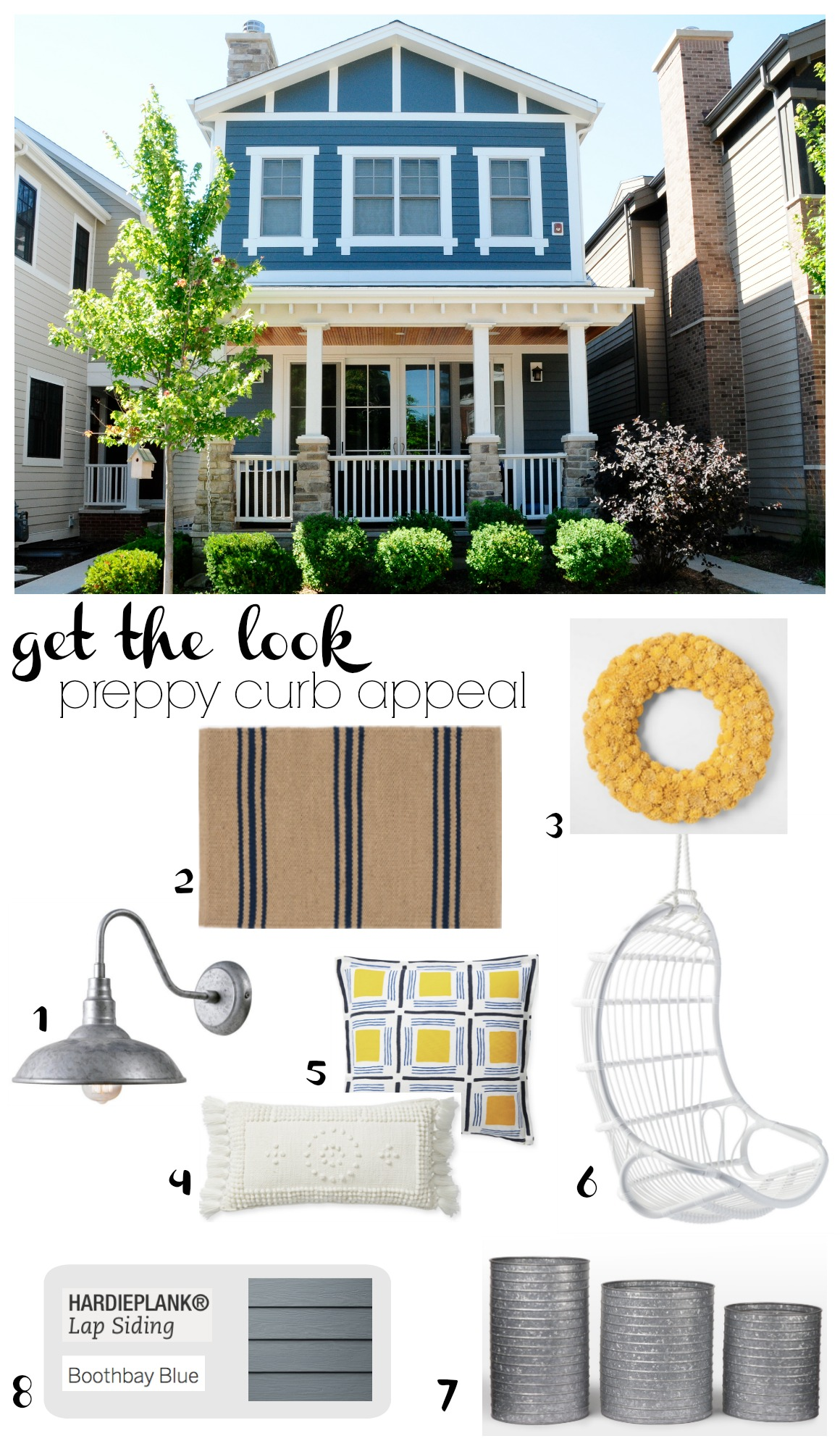 Get the Look- Preppy Curb Appeal-Boothbay Blue