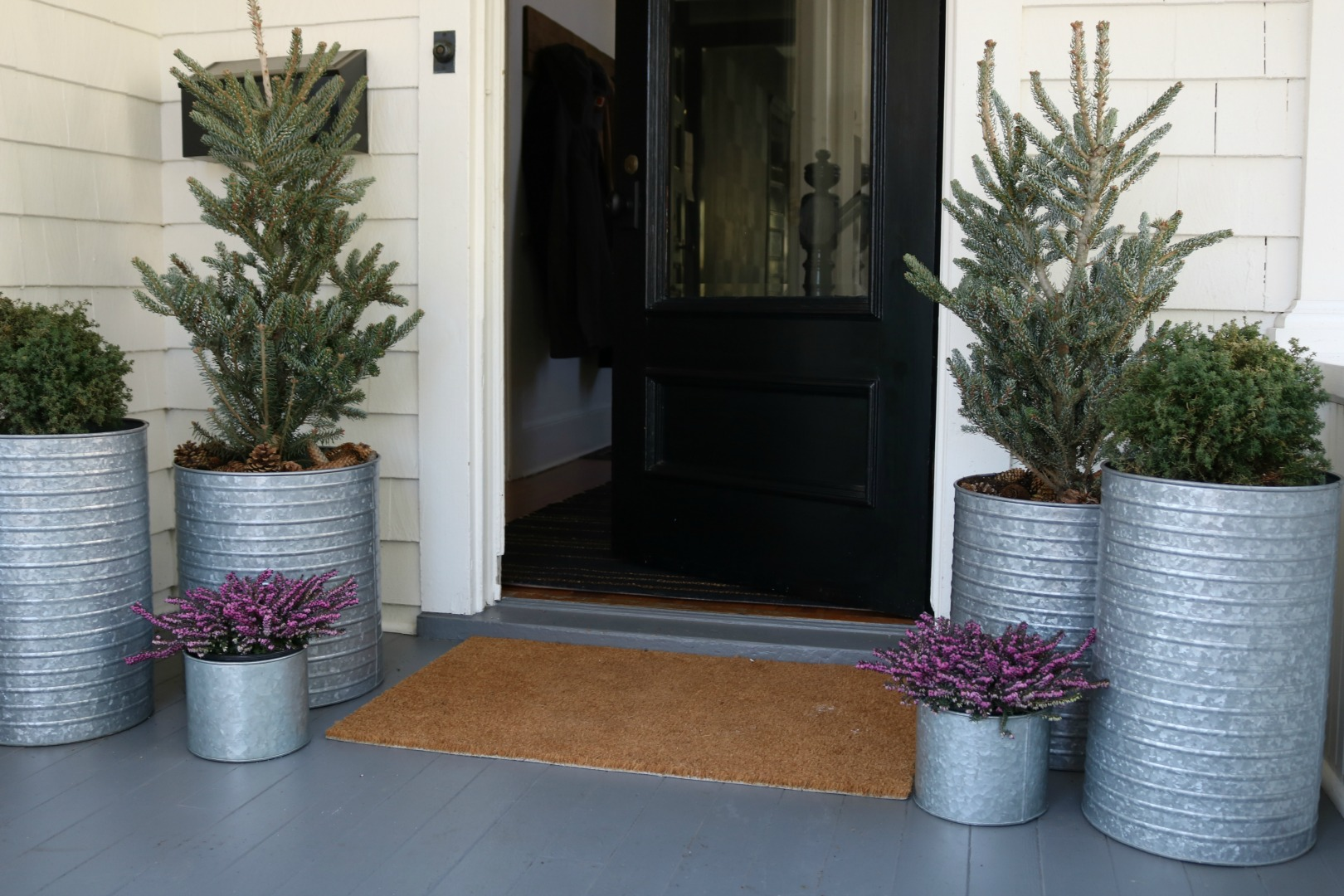 front lots planters ideas corechange three inspirations pots porch big flower