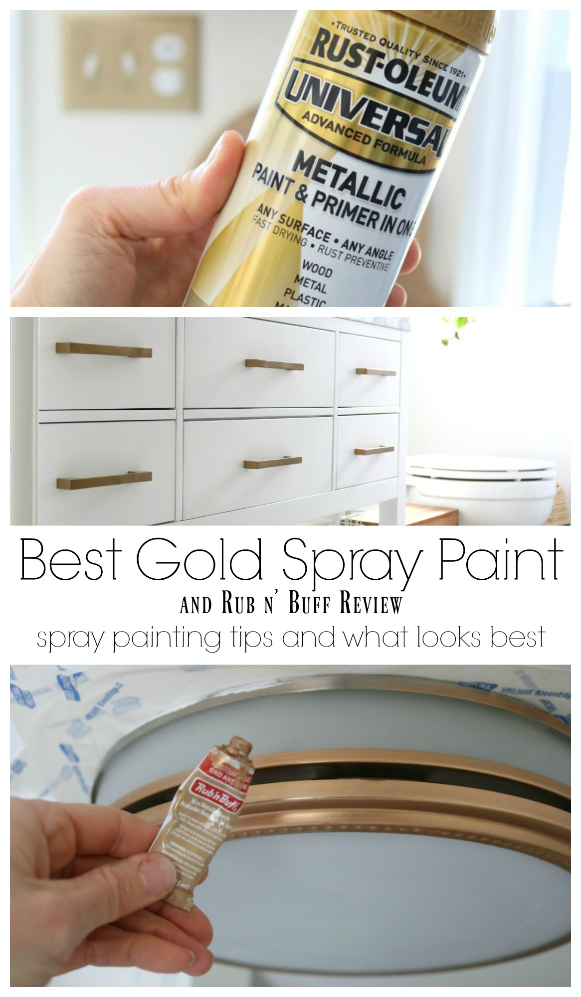 favorite spray paint and rub n buff experience nesting with grace