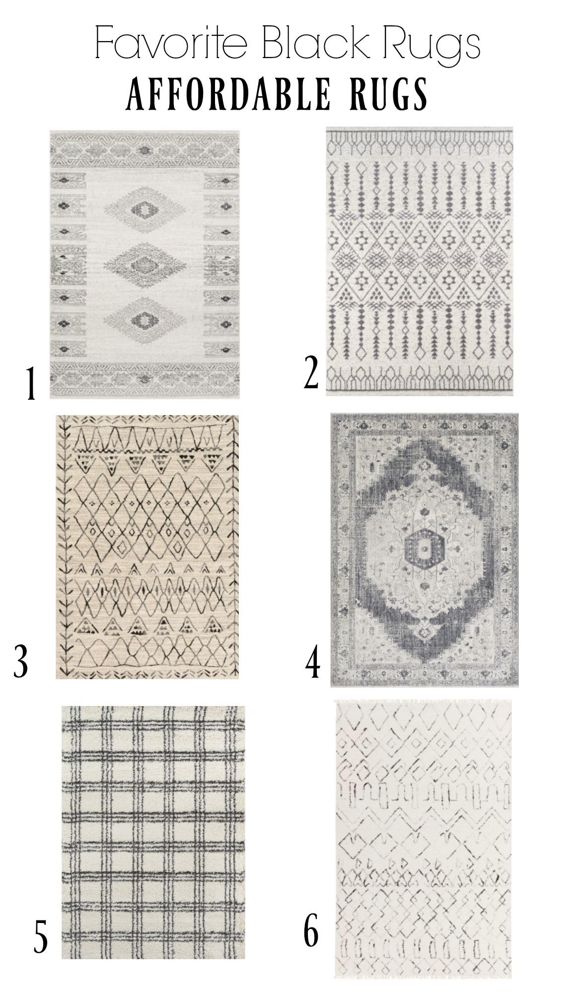 Affordable Black Accent Rugs