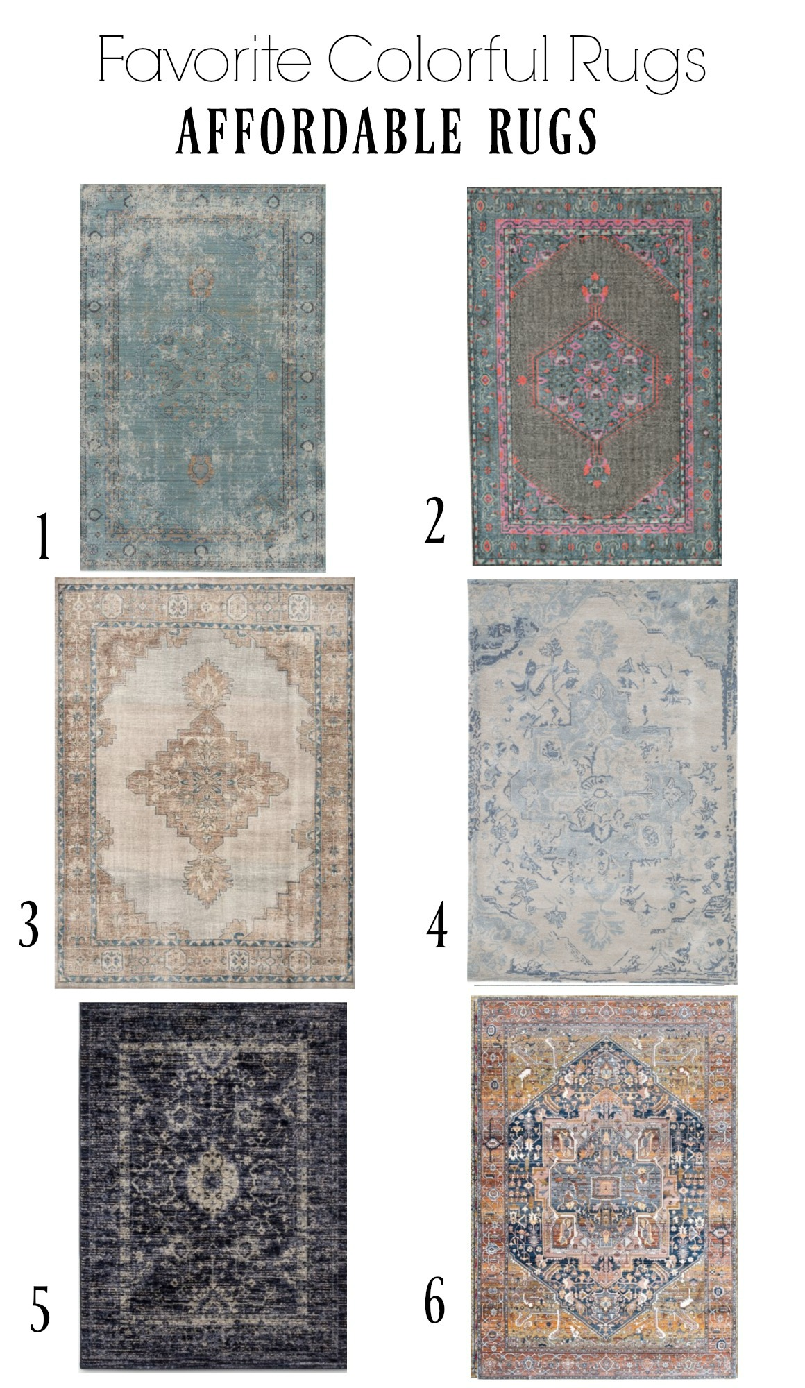 Affordable Colorful Rugs- Timeless Rugs