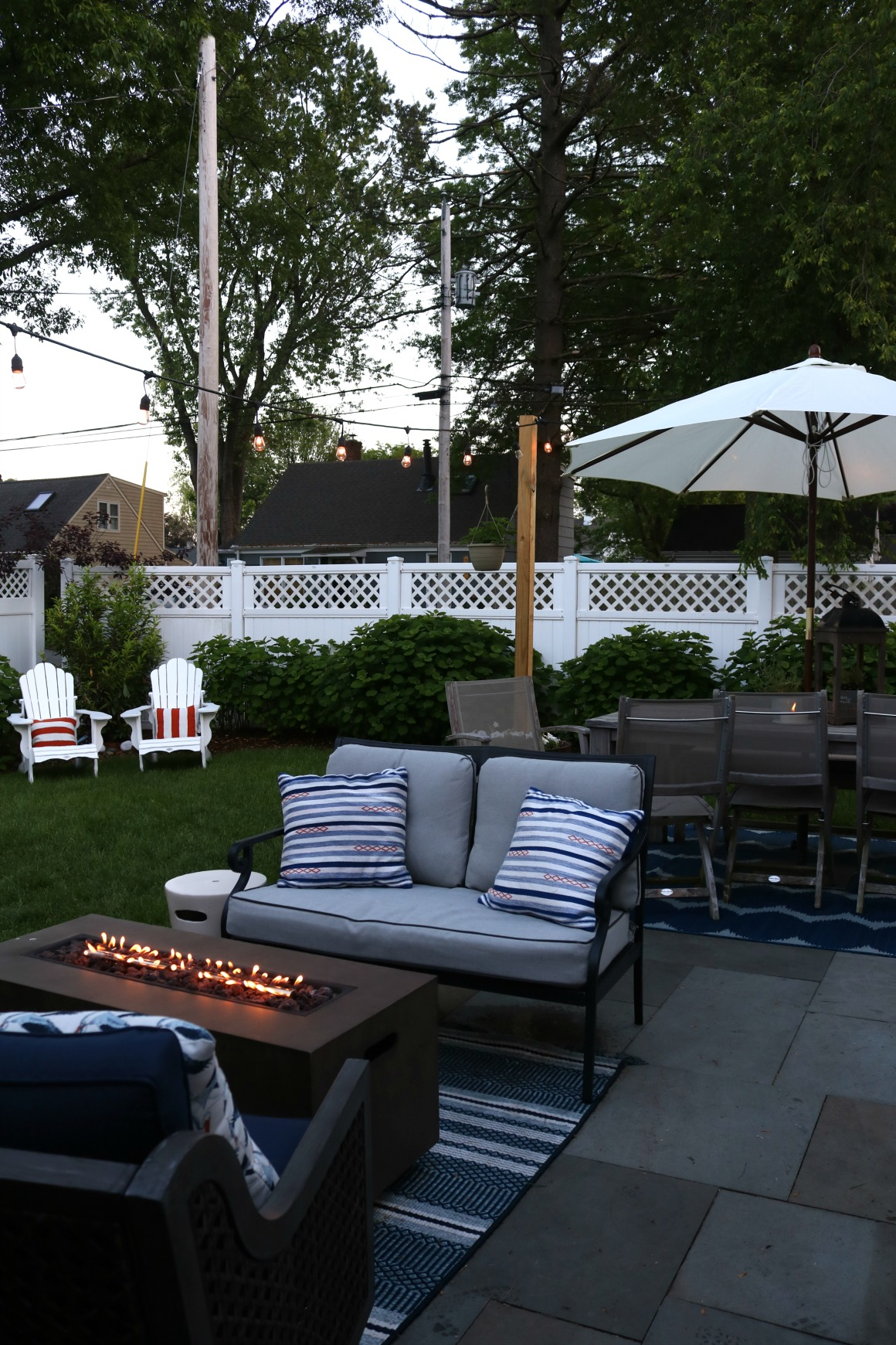 Backyard Patio- Outdoor Furniture for Small Spaces - Nesting With Grace