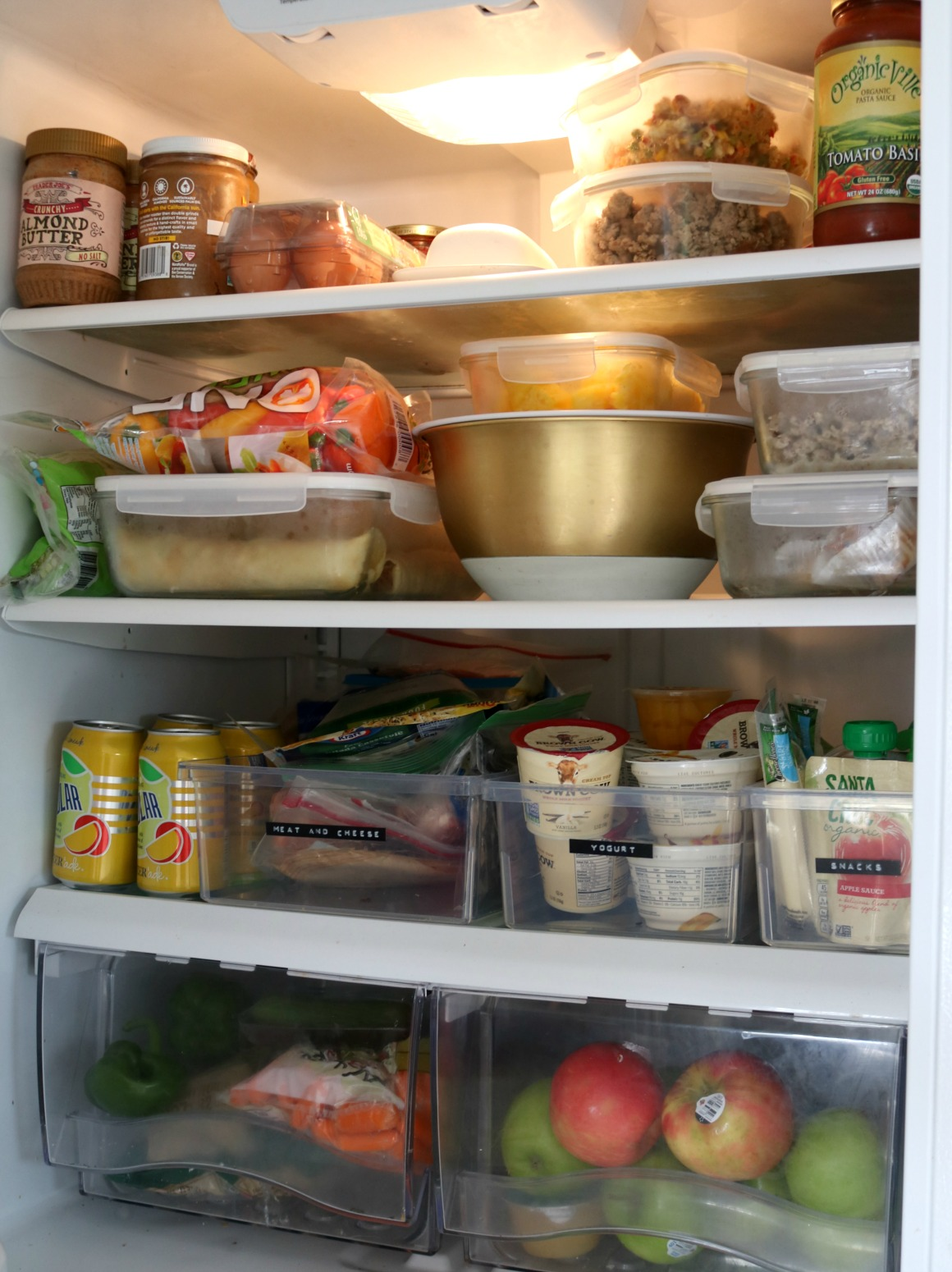 Small Spaces- Fridge Organizing Tips