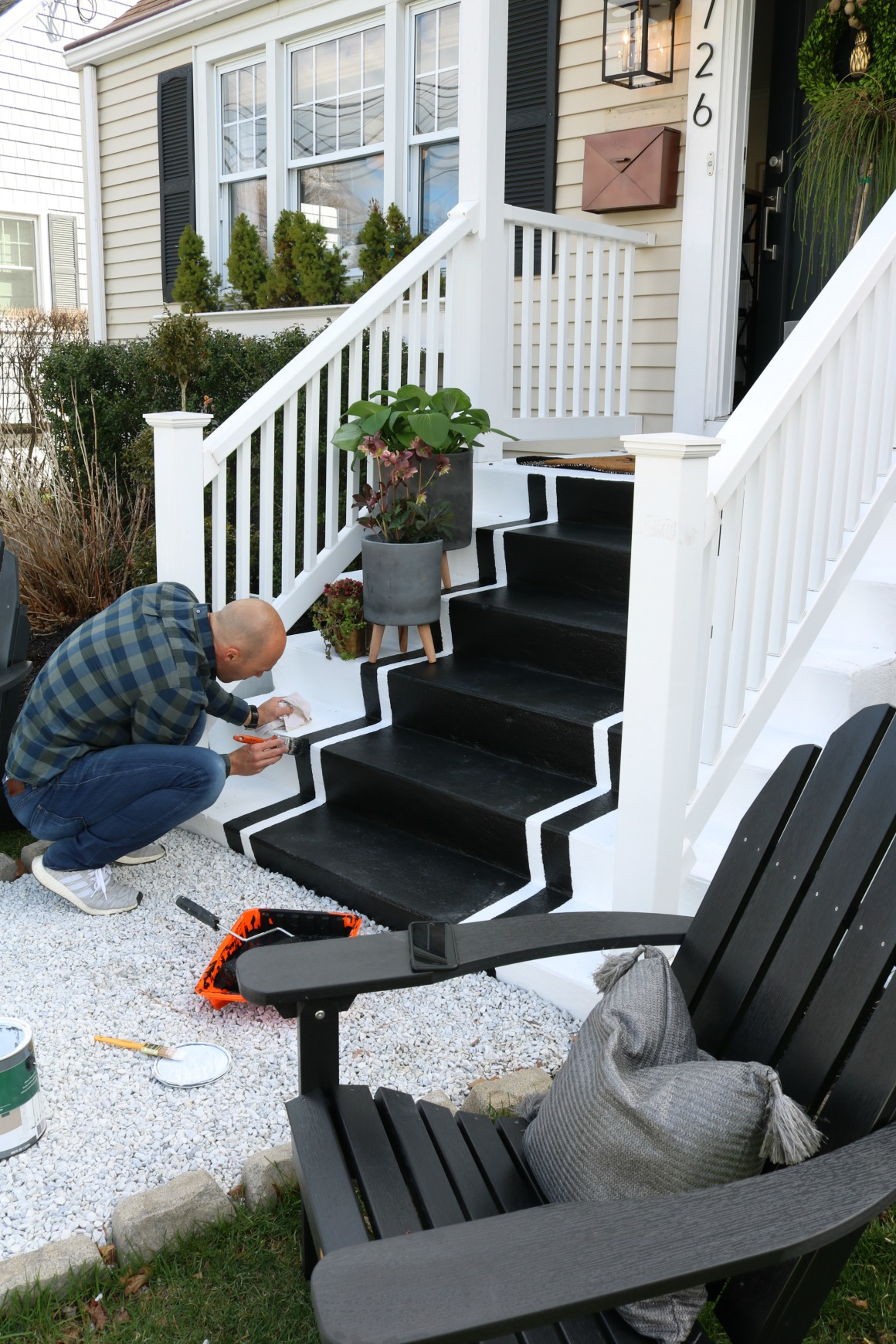 Front Porch Spring Reveal With Painted Steps
