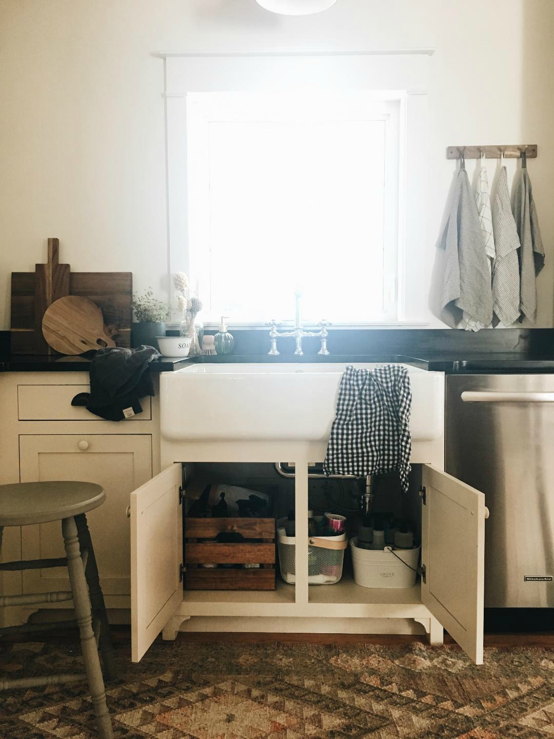 Small Space Living Series- 110 sq ft Kitchen Tour - Nesting With Grace