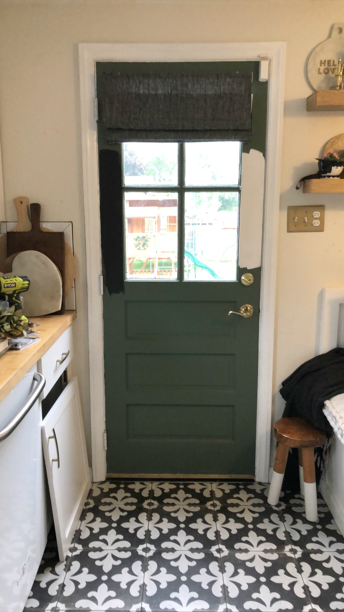 Painted Interior Kitchen Door