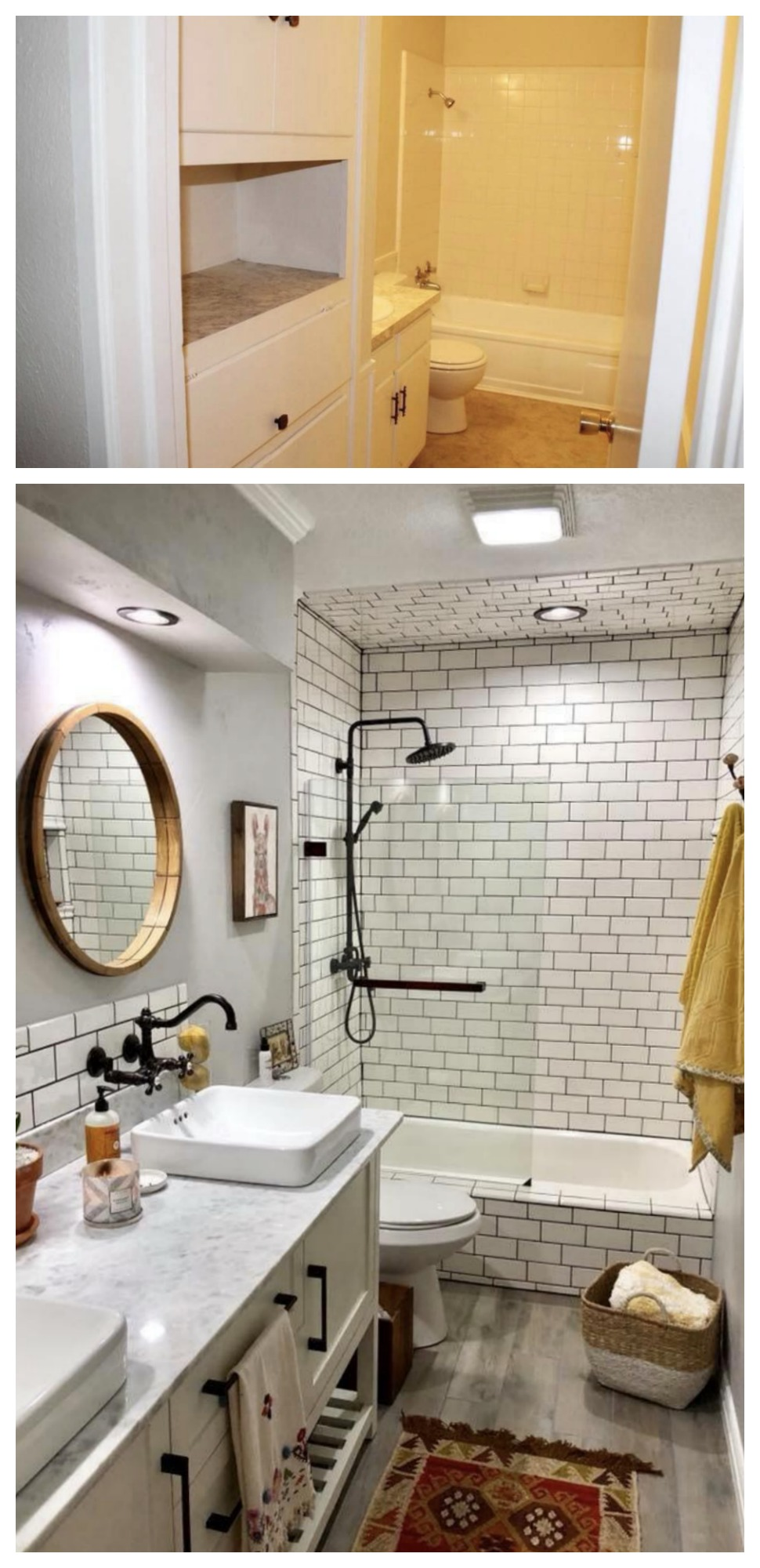 Bathroom BEFORE and AFTER!