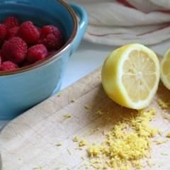 Lemon Poppyseed Cake with Raspberry Filling- Frosting Tips too!