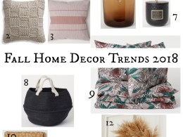 Fall Home Decor Trends 2018
