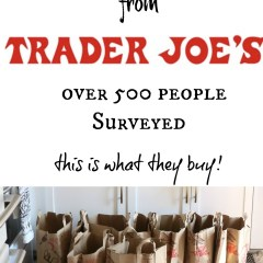 Trader Joe's Shopping List- Top 40 Items