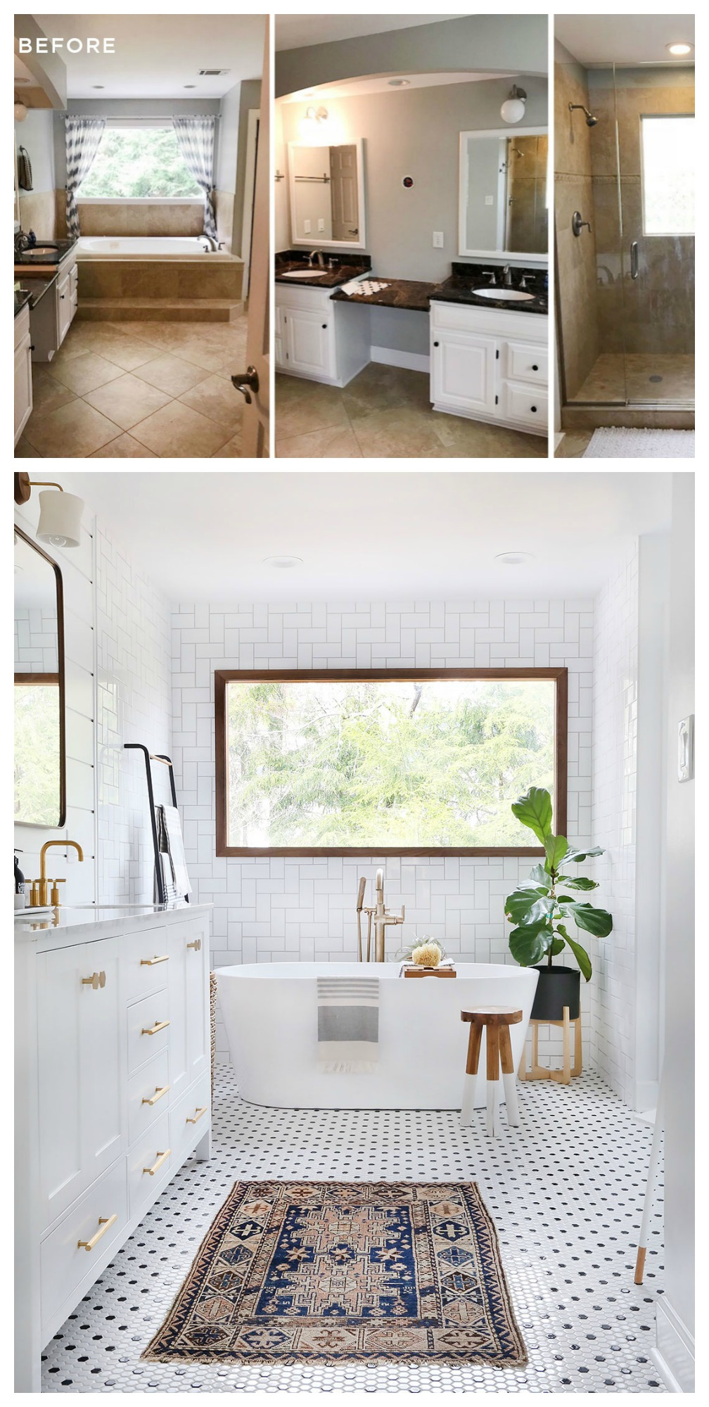 20 Bathroom Makeovers- Major Inspiration