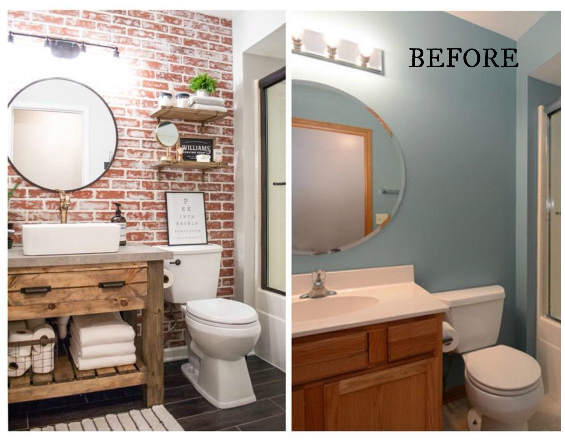 Strange 20 Bathroom Makeovers Before And Afters Nesting With Grace Best Image Libraries Thycampuscom